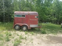 red and white horse trailer Traverse City, 49684