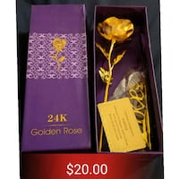 Giftable: 24K gold foil rose, with stand.  Toronto, M4J 2A1