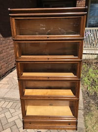 Antique BARRISTERS STACKING BOOKCASE Oak  7 sec ,Drawer