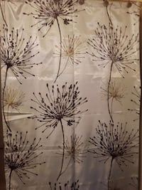 Brown and beige Thistle look shower curtain Abbotsford, V2T 6M9