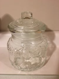 Large glass cookie jar - $5