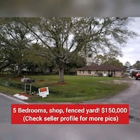 HOUSE For Sale 5 Bedroom, fenced yard, shop Lake Charles