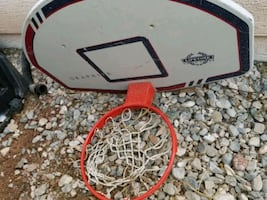 Full-size basketball hoop
