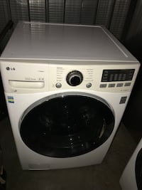white LG front-load clothes washer Los Angeles, 90034