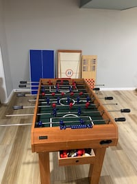 Foosball table, pool tables, hokey table, much more