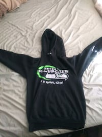 black and green Adidas pullover hoodie 531 mi