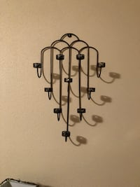 Black metal wall mount candle holder District Heights, 20747