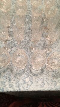 Miller rogaska glasses. 8 balloon wine,8 champagne flute and 4 brandy snifters. Beautiful Yugoslavian crystal purchased at G Fox.  Perfect  condition
