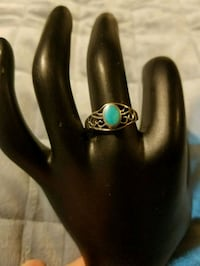 Oval Turquoise Sterling Silver Ring  House Springs, 63051