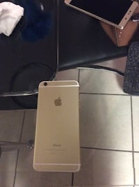 gold iPhone 6 with broke screen
