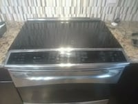 stainless steel and black induction range oven Edmonton, T5E 4S6