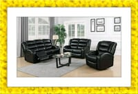 black faux leather recliner sofa and love seat Silver Spring, 20906