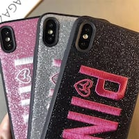 Fashion PINK Glitter Phone Case For iPhone (Pink, Black and Silver) Gaithersburg, 20878