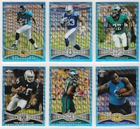 Various 2012 Topps Chrome Blue Wave Rookie Refractors Bakersfield