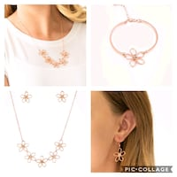 Hibiscus hipster copper necklace and bracelet  Gaithersburg