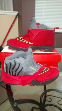gray-and-red Nike high top sneakers Surrey