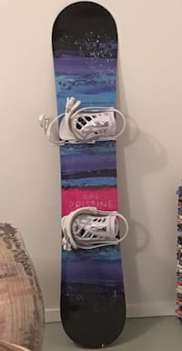 blue and pink Pristine snowboard