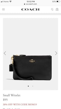 Black coach leather crossbody bag Toronto, M2N
