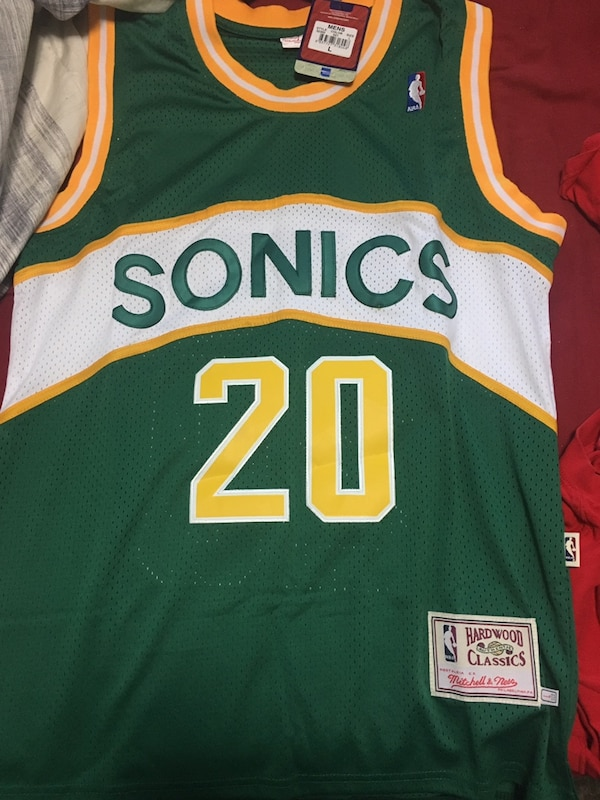 Used NBA VINTAGE GARY PAYTON SEATTLE SONICS JERSEY for sale in ... 032b73155