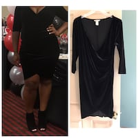 Sexy velvet h&m maternity dress size med