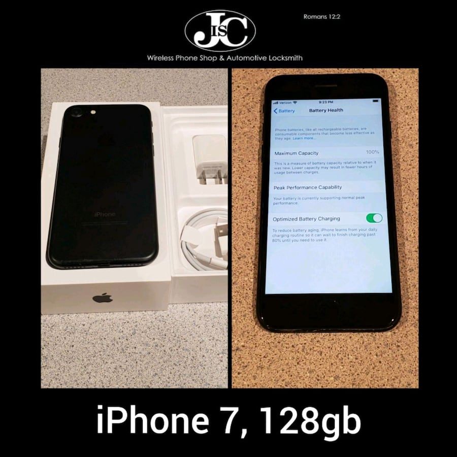 iPhone 7 Matte Black, 128gb! Unlocked For Any Carr