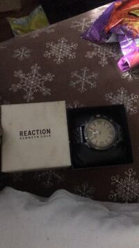round silver-colored chronograph watch with box Anaheim, 92806