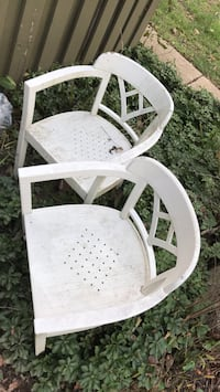 White hard plastic outdoor armchair Columbia, 21045