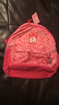 Pink crown printed backpack Union City, 07087