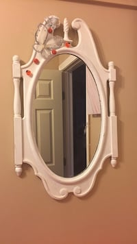 white wooden framed wall mirror Worcester, 01610