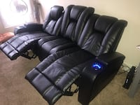 Black leather recliner sofa chair Rockville, 20850
