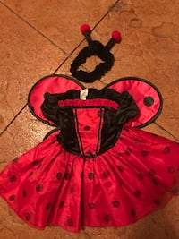 toddler's pink and black dress Madison, 35758