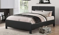 Complete Bed Brand New Pu-Leather Bed Frame with Spring Mattress and Free Delivery.... TORONTO