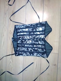 black and white spaghetti strap top Winnipeg, R2V 0L4