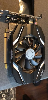 Black and white computer graphics card