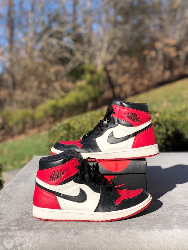 b813d267a964e6 Used Jordan 1 Bred toes size 10. for sale in Dumfries - letgo