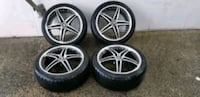 4  18in wheels rims with like new tires motegi racing 5x110