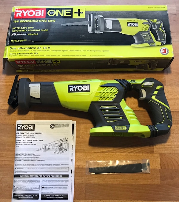 Ryobi 18 Volt One Cordless Reciprocating Saw Tool Only With Blade