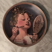 "Vintage Norman Rockwell  ""Making believe in the mirror"" plate Toronto, M2L 2S9"
