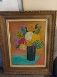 brown wooden framed painting of flowers New York, 10036