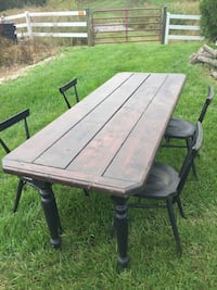 Modern farmer table and chairs 44 km