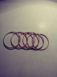 6 Pink Sparkly Bangles Madison Heights, 48071