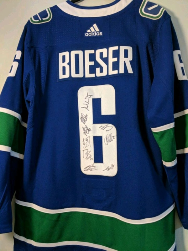Autographed by Pettersson Canucks jersey