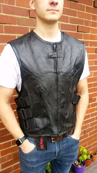 Leather Vests..bullet proof style