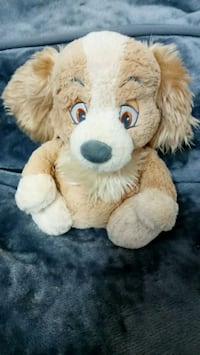 Disney lady and the tramp plush soft baby rattle  5661 km
