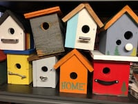 Various hand made birdhouses North Vancouver, V7J 3K4