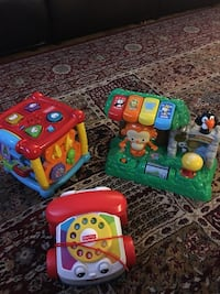 toddler's Fisher-Price learning toys