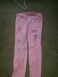 pink and white floral pants