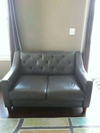 black leather padded sofa chair Silver Spring, 20905