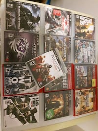 assorted ps3 games Mississauga, L5E 3G8