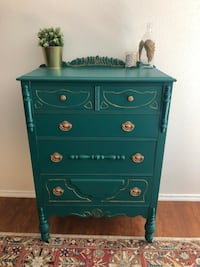 Vintage Dresser - Peacock Green with Gold Waxing Accent Tampa, 33634